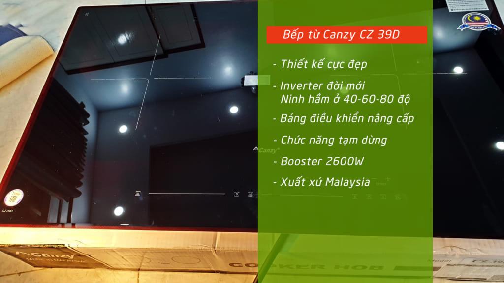 Đặc điểm nổi bật của Bếp từ canzy CZ 39D